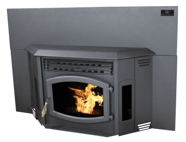 Breckwell Hearth Products P24 The Blazer Pellet Stove Insert with Black Door - SP24I  Get Your Home Glowing Big heat and rich tradition are what the Blazer insert is all about. Based on the decades of tradition and dedication to quality