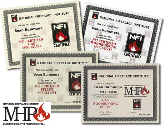 When you're looking for a wood burning stove fireplace inserts or other hearth products one of the best ways to identify a competent specialist is to check their credentials The National Fireplace Institute® an independent non-profit certification agency has created the standard for