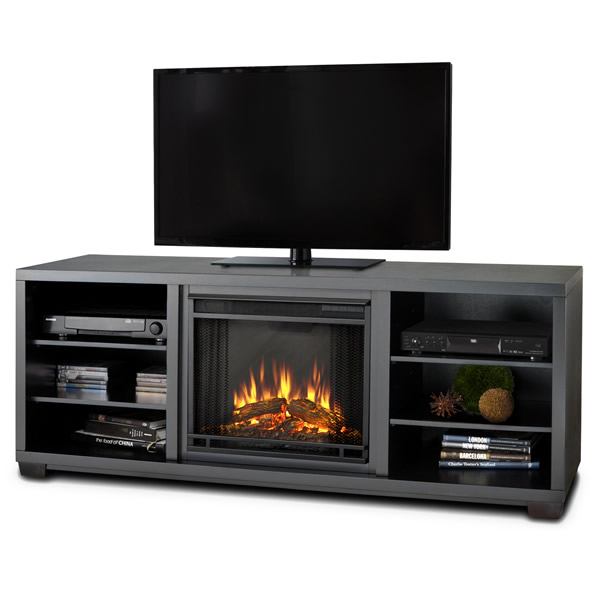 Discontinued Real Flame Marco Electric Fireplace Black
