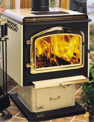 Discontinued Napoleon 1400 Pedestal Wood Burning Stove