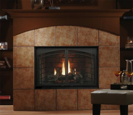 Fireplaces Gas Fireplaces Kingsman Direct Vent Gas Fireplace Heater Mv Natural Gas