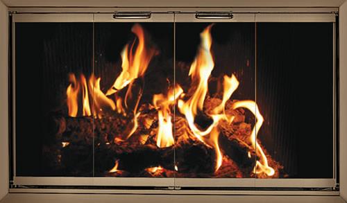 Fireplace Glass Doors Stock Zero Clearance Z Doors Temco
