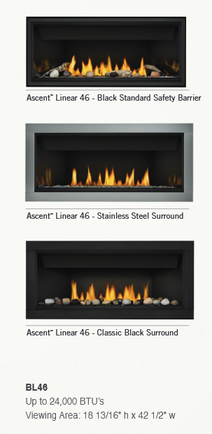 Napoleon Ascent Linear BL46 Direct Vent Gas Fireplace ...
