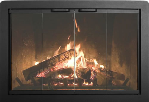 Thermo Rite Beauregard Custom Glass Fireplace Door   Welded Steel    BEAURAGARD