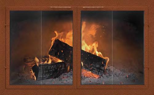 Fireplace Glass Doors Custom Thermo Rite Normandy Bi Fold