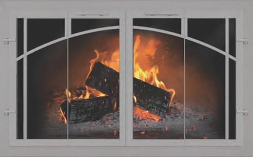 Fireplace Glass Doors Custom Thermo Rite Normandy