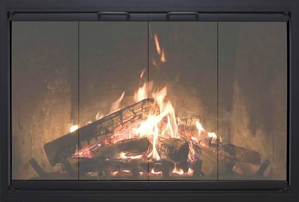 Fireplace Glass Doors Custom Thermo Rite Highlander Custom