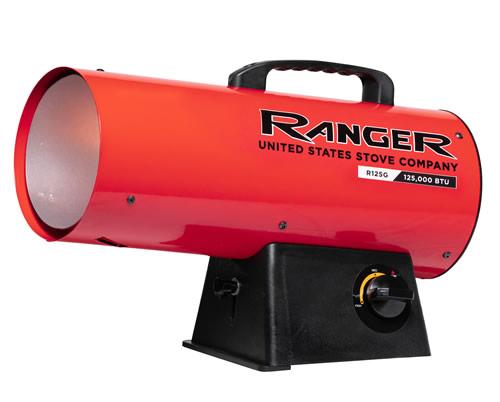 Gas Space Heaters    Ranger R125lp 125 000 Btu Propane Forced Air Heater