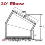 Selkirk 20'' 30 Degree Elbow - Galva Temp - 220210G - 20GT-EL30