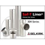 Selkirk 5'' Saf-T Liner 304L 12 Length Male/Male Black Adapter - 4501SSB