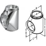 """M&G DuraVent 7"""" DuraTech Tee With Cap - Stainless Steel - 9567SS"""