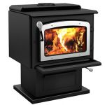 Drolet Escape 1800 EPA Wood Stove with Nickel Door - DB03111