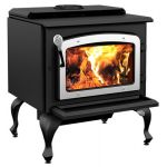 Drolet Escape 1800 EPA Wood Stove with Nickel Door w/ Black Legs - DB03112