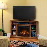 Real Flame Churchill Corner Electric Fireplace - Oak - 3750E-O