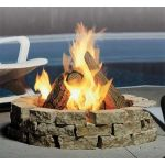 Kingsman Outdoor Fire Pit - Round - Propane - FP2085LP