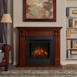 Real Flame Ashley Electric Fireplace in Mahogany - 7100E-M