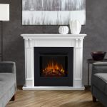 Real Flame Ashley Electric Fireplace in White - 7100E-W