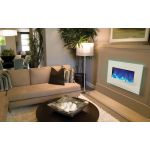 Amantii 26'' Electric Unit with White Glass Surround - WM-BI-26-3623-WHTGLS