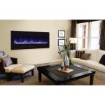 Amantii 50'' Electric Unit w/ Black Glass Surround No Mood light - BI-FI-50-FLUSHMT-BLKGLS
