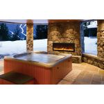Amantii 40'' Slim Outdoor Electric Built-in only with black steel surround - BI-40-SLIM-OD