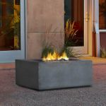Real Flame Baltic Square Natural Gas Fire Table Glacier Gray - T9620NG-GLG