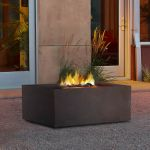 Real Flame Baltic Square Natural Gas Fire Table Kodiak Brown - T9620NG-KB