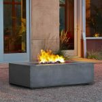 Real Flame Baltic Rectangle Natural Gas Fire Table in Glacier Gray - T9650NG-GLG