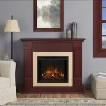 Real Flame Silverton Electric Fireplace - Dark Mahogany - G8600E-DM