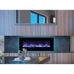 "Amantii WM-FM-48-5823-BG 48"" Electric Fireplace - Wall Mount/Built In - WM-FM-48-5823-BG"