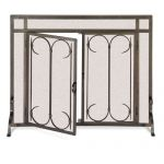 Pilgrim Iron Gate Burnished Black Operable Screen Door -Straight 18425