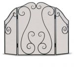 Napa Forge 3 Panel Antique Scroll Screen - Brushed Bronze - 19201