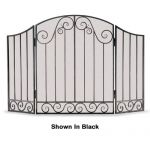 Napa Forge 3 Panel Vienna Arch Screen - Brushed Pewter - 19210