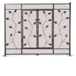 Napa Forge Flat Leaf & Vine Screen with Doors - Brushed Bronze - 19331