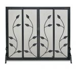 Napa Forge Flat Garden Vine Screen with Sliding Doors - Black - 19335