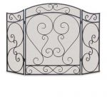 Napa Forge 3 Panel Country Scroll Screen - Black - 19204