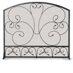 Napa Forge Single Panel Country Scroll Screen - Black - 19254