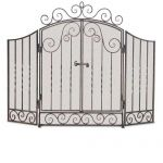 Napa Forge 3 Panel Vienna Screen with Doors - Brushed Petwer - 19325