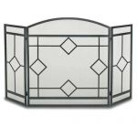 Napa Forge 3 Panel Art Nouveau Screen - Black - 19232