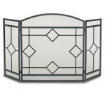 Napa Forge 3 Panel Art Nouveau Screen - Black - 19232