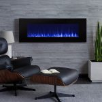 Real Flame DiNatale Wall-Mounted Electric Fireplace in Black - 1330E-BK