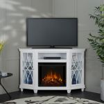 Real Flame Lynette Electric Fireplace in White - 1750E-W