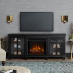 Real Flame Marlowe Electric Entertainment Fireplace in Black - 2770E-BK