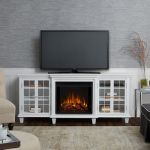 Real Flame Marlowe Electric Entertainment Fireplace in White - 2770E-W