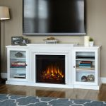 Real Flame Frederick Entertainment Center Electric Fireplace in White - 7740E-W