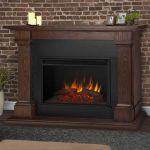 Real Flame Callaway Grand Electric Fireplace in Chestnut Oak - 8011E-CO