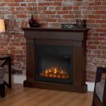 Real Flame Crawford Slim Line Electric Fireplace in Chestnut Oak - 8020E-CO