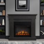 Real Flame Crawford Slim Electric Fireplace in Gray - 8020E-GRY