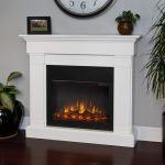 Real Flame Crawford Slim Line Electric Fireplace in White - 8020E-W