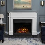 Real Flame Harlan Grand Electric Fireplace White - 8060E-W