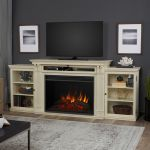 Real Flame Tracey Grand Entertainment Center Electric Fireplace in Black - 8720E-DSW